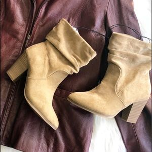 Mossimo • Tan Slouch Booties
